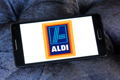 Aldi logo Stock Photos