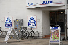 ALDI MARCADO imagem de stock