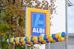 Aldi Süd baloons Stock Image
