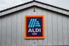 ALDI South Logo on a building stock images