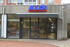 Aldi supermarket for discount, Netherlands Stock Photography