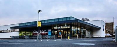 ALDI Supermarket, Drove Rd, Swindon SN1 3AD. SWINDON, UK - JANUARY 1, 2019: ALDI Supermarket, Drove Rd, Swindon SN1 3AD royalty free stock images