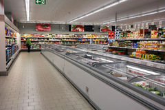Aldi supermarket Stock Photo