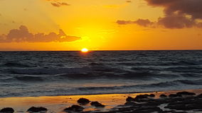 Aldinga-Sonnenuntergang Aldinga-Strand Australien Stockfotografie