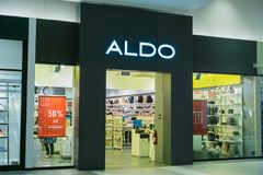 Aldo`s storefront royalty free stock images