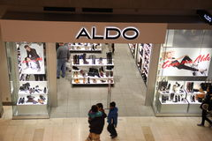 Aldo Shoe Store. Aldo store has Great selection of shoes, boots, sandals and accessories Stock Image