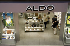 Aldo shoe store Royalty Free Stock Image