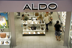 Aldo shoe store royalty free stock images