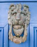 Aldrava de porta do leão fotos de stock