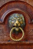 Aldrava de porta italiana: leão Foto de Stock Royalty Free