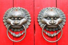 Aldrava do lionhead de China Imagens de Stock