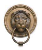 Aldrava do lionhead do renascimento de Hungria no branco foto de stock royalty free