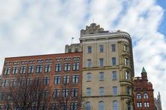 Aldred大厦或大厦La Prevoyance是在历史的地方d ` Armes广场的一个艺术装饰大厦 免版税图库摄影