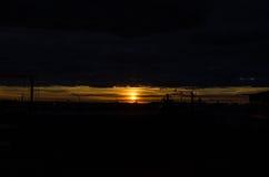 Aldrig sinande solnedgång Royaltyfria Foton