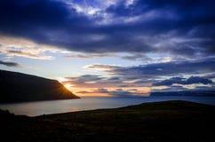 Aldrig sinande solnedgång Royaltyfri Fotografi