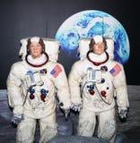 Aldrina e Neil Armstrong di ronzio Fotografia Stock