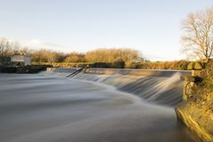 Aldwarke Weir River Don Long Daylight Exposure Royalty Free Stock Photos