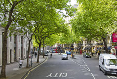 Aldwych road in the City of Westminster Royalty Free Stock Photography