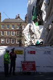 Aldwych scaffolding collapse Stock Images