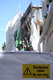 Aldwych scaffolding collapse Stock Photography
