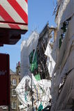 Aldwych scaffolding collapse Royalty Free Stock Photo