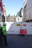 Aldwych scaffolding collapse Royalty Free Stock Photography