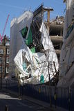 Aldwych scaffolding collapse Stock Image
