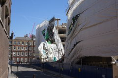 Aldwych scaffolding collapse Royalty Free Stock Image