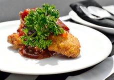 Ale di pollo fritte casalinghe piccanti fotografia stock