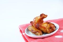 Ale di pollo fritte del barbecue Fotografie Stock
