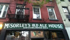 Ale House idoso de McSorley Fotografia de Stock