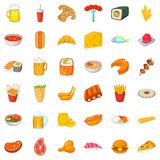 Ale icons set, cartoon style Royalty Free Stock Images