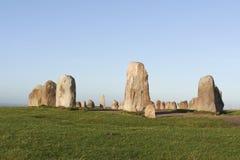Ale´s stones - stone circle Stock Photos