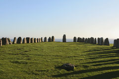 Ale´s stones - stone circle Royalty Free Stock Images