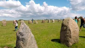 Ale standing stones stock footage