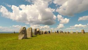 Ale standing stones time lapse stock footage