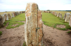 Ale Stones nära svenska Kaseberga Arkivfoton