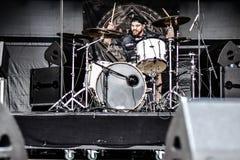 Alea Jacta Est σε Hellfest 2016 Στοκ φωτογραφία με δικαίωμα ελεύθερης χρήσης