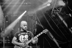 Alea Jacta Est in Hellfest 2016 Royalty Free Stock Photo