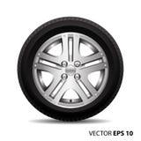 Aleación radial del coche de la rueda con vector del neumático Fotografía de archivo