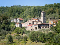 Alebbio - typical small village in north Tuscany, Italy. Stock Photo