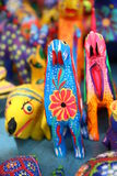 Alebrije. A Colorful hand carved animals stock image