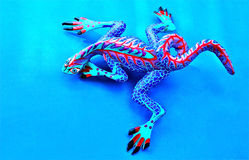 Alebrije on Blue Background Stock Images