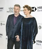 Alec Baldwin Annette Bening at the 2018 Tribeca Film Festival Royalty Free Stock Photo