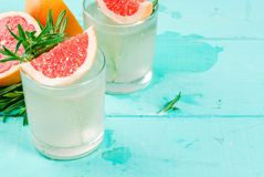 Alecrins, toranja & Gin Cocktail imagens de stock