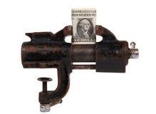 Alegoría de la crisis financiera global foto de archivo libre de regalías