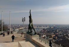 Alegoría de la escultura del progreso Fotografía de archivo libre de regalías