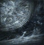 Alegoría del tiempo ilustración del vector