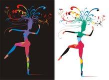 Alegoria da mulher do carnaval Imagem de Stock