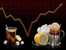 Alegoria de uma crise econômica ilustração do vetor